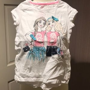 Cute Justice tshirt, size 7-8 - best friends, girl
